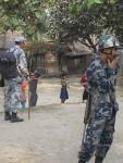 Nepal police inside Bhutanese Refugee camp3