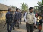 Nepal police inside Bhutanese Refugee camp2