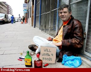 Beggar infront of a Retail store.( photo: Googleengine)