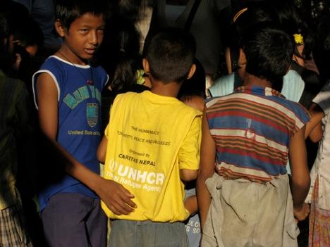 Bhutanese Refugee children playing(photos:flickrs)