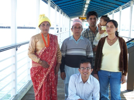 Bhim Timsina with his family