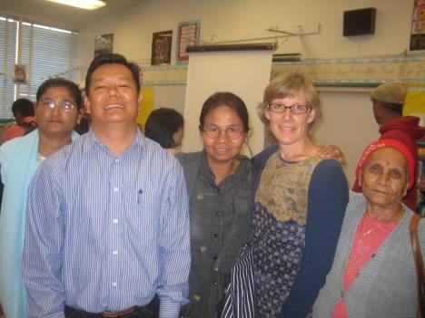 Students, teachers and  a Bhutanese interpreter.