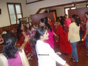Teej ko rahar aayo bari lai...!!.Bhutanese women swaying with the Traditional Teej songs