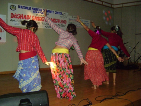Dance by resettled Bhutanese girls in california