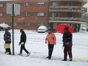 BhutaneseBhutanese plodding their way home in the snow/ photo: Promod plodding their way home in the snow/ photo: Promod
