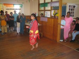 A Bhutanese lady dancing in Tasmania