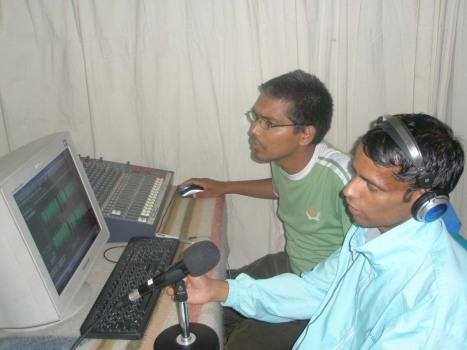 Sarokar team in Nepal FM Studio